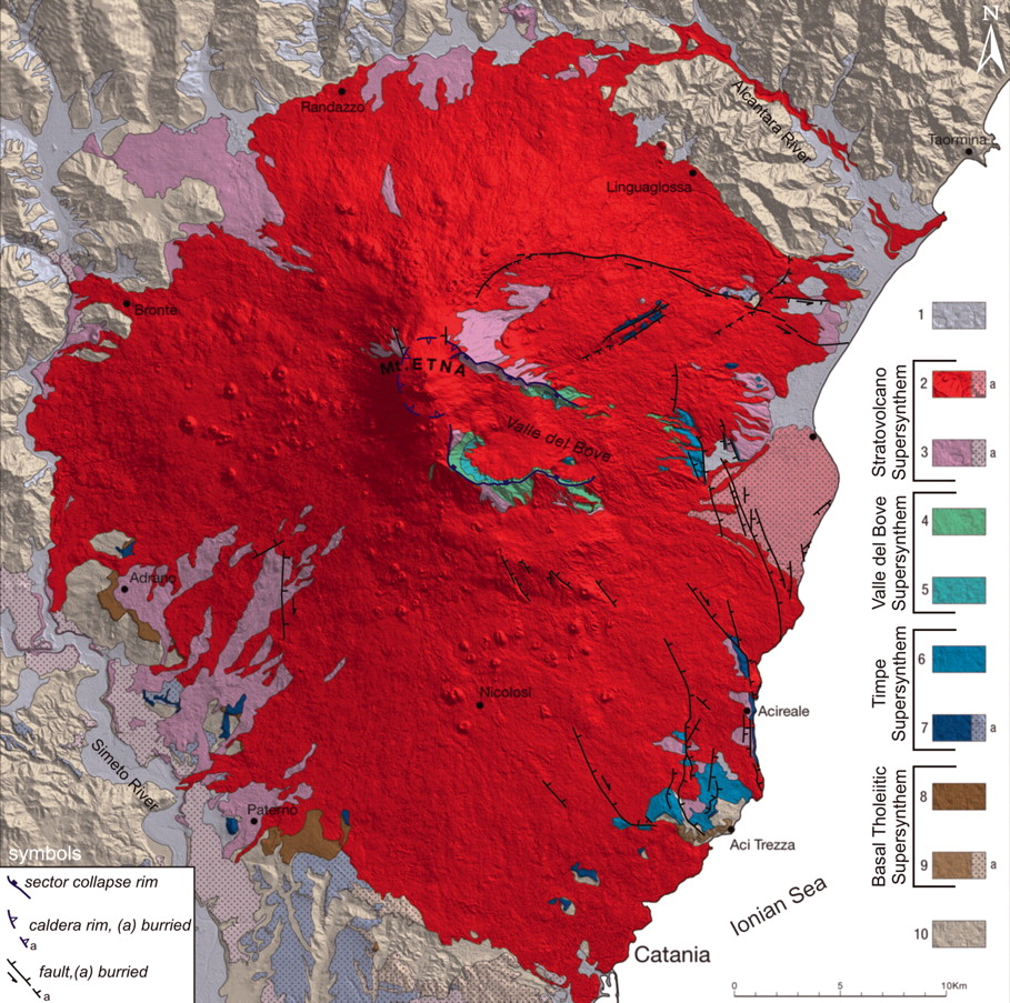 Volcanological map of Etna