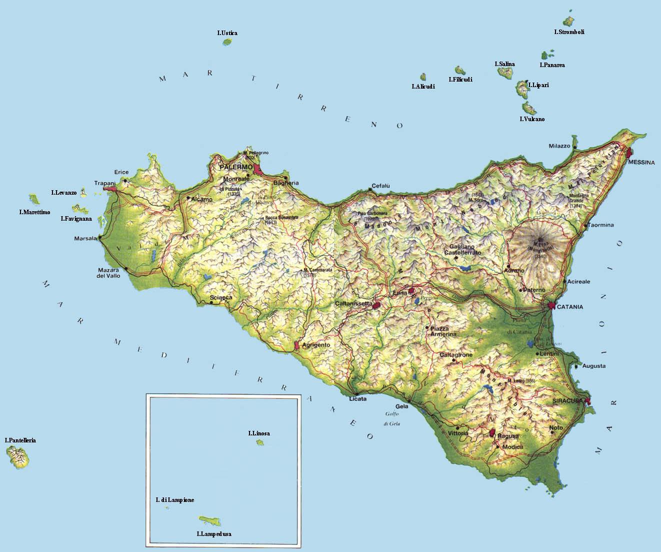 Geologia delletna etnatao etna excursions carta geografica sicilia altavistaventures Images